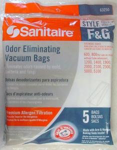 Vacuums - Sanitaire 63235-10 Style FG Arm & Hammer Vacuum Cleaner Bags - 5 Pack