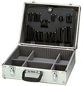 Clarke, TB2001A, Professional, Anodized, Aluminum, Tool, Case, SILVER, 18.75, 14.25, 6.5, Outside, 17, 12, Inside, Shoulder, Strap, 8.5, Lb, Computer, Copier, Elect, Tech