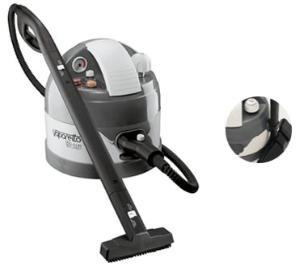 Polti 3000 Vaporetto Eco Pro Steam Vapor Cleaner on Caster Wheels, Stainless Steel Boiler, 3L, 0-52.5 PSI, 3.5Bar, 370°F Boiler, 270°F Work, 1500W,13A
