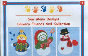 Sew Many Designs Shivery Friends Applique 5X7 Designs Multi-Formatted CD