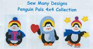 Sew Many Designs Penguin Pals Applique 5X 7 Designs Multi-Formatted CD