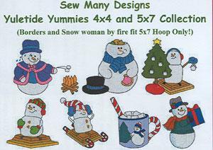 Sew Many Designs Yuletide Yummies Applique Designs Multi-Formatted CD