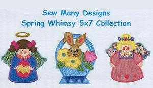 Sew Many Designs Spring Whimsy Applique Designs Multi-Formatted CD