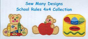 Sew Many Designs School Rules Applique Designs Multi-Formatted CD