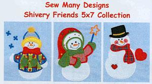 Sew Many Designs Shivery Friends Applique 4X4 Designs Multi-Formatted CD