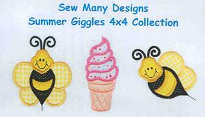 Sew Many Designs Summer Giggles Applique Designs Multi-Formatted CD