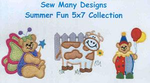 Sew Many Designs Summer Fun Applique Designs Multi-Formatted CD
