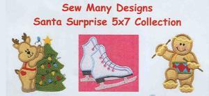 Sew Many Designs Santa Surprise Applique Designs Multi-Formatted CD
