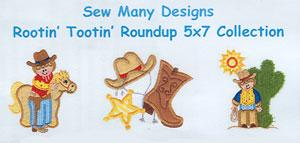 Sew Many Designs Rootin' Tootin' Roundup Applique Designs Multi-Formatted CD