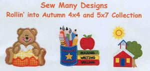 Sew Many Designs Rollin' Into Autumn Applique Designs Multi-Formatted CD