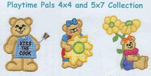 Sew Many Designs Playtime Pals Applique Designs Multi-Formatted CD
