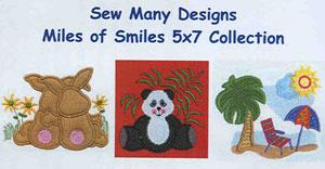 Sew Many Designs Miles Of Smiles Applique Designs Multi-Formatted CD