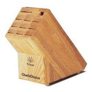 Chefs Choice ® 2000001 Trizor ® 9-Slot Oak Knife Block
