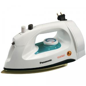 Panasonic NI-G10NRSteam &amp; Dry Iron 1200W, Retract Cord Reel Heel Rest, Adjustable Variable Steam, Spray Mist, 3 Way Auto Shut Off, Non Stick Soleplate