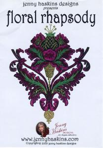 Jenny Haskins Floral Rhapsody 30 Designs Multi-Formatted Embroidery CD