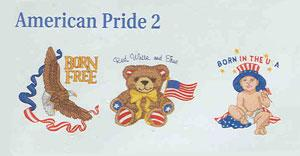 Dakota Collectibles F70203 American Pride 2 Embroidery Designs Multi-Formatted CD