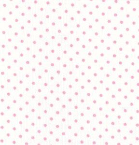 Fabric Finders 449 Pique 100 percent Pima Cotton 60 inch White with Pink Dot Fabric