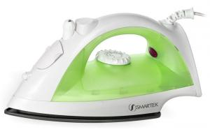 "Smartek ST-1200, st1200, st-1200g, st1200g, white Green, Steam, Burst & Dry Iron ST1200 10.5x5.5x4.5"" Inches, 1200 Watts, Non-Stick Soleplate, Variable Temperature, Water Spray Mist"