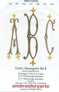 Embroideryarts Gothic Monogram Set 8 Embroidery Multi-Formatted CD
