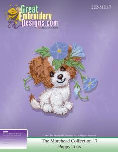 Great Notions Inspiration Collection MH17 Morehead 17 Puppy Toes Embroidery Designs CD