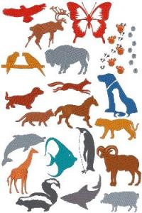 Down Home Dreams 120 Animal Silhouettes Embroidery Designs Floppy Disk