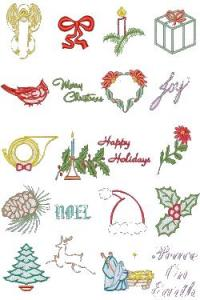 Down Home Dreams 125 Christmas in Satin Embroidery Designs Floppy Disk