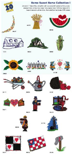 Amazing Designs 1104 Home Sweet Home Embroidery Disks