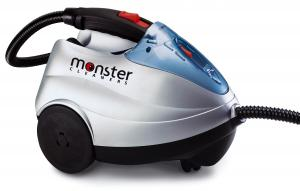 Monster SC60, Monster SC60 Steam Cleaner, Powerful, Pressurized Cylinder, Canister, Dry, Steam Cleaner by EuroFlex, 1450W, 1.2 L Stainless Boiler, 266° F, 3.8 Bar, 55 PSI, 60 Minutes