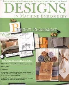 Designs, In, Machine, Embroidery, DIME, Perfect, Placement, Kit, PPK0010, 15, Template, 36, Sticker, Ruler, 20, Page, Book