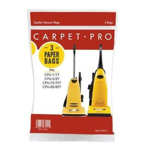 Carpet Pro CPP-3Pk Paper Filter Dust Bags, CPU1 CPU2 CPU75 CPU85 Upright Vacuum Cleaners