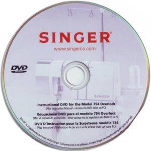 Singer 400056.01 Instructional DVD Video Tutorial for 14CG754 14SH764 654 Sergers*