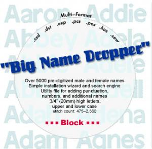 Embroideryarts 01x06 Big Name Dropper Block Embroidery CD
