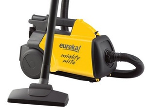 "Eureka, 3670G, Mighty Mite, ""Boss"", Lightweight, Canister, Vacuum Cleaner, & Blower, Built-in Handle, 12AMP, 20' Cord with Crevice, Upholstery & Floor Tools, Eureka 3670G Mighty Mite Lightweight Canister Vacuum Cleaner, AirBlower YELLOW 10""Wide Handle 12A 20'Cord 6'Hose Crevice Upholstery Floor Tools 9-11Lb"