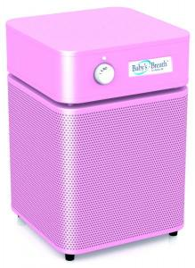 "Austin Air, HM205, Babys Breath, Air Purifier, Cleaner, Blue, Pink, 9.5x11"" Filter, 30 Sq Ft,  HEPA Medical, 6.5 Lb Carbon, Zeolite , 360° Intake for 700 Sq Ft Room"