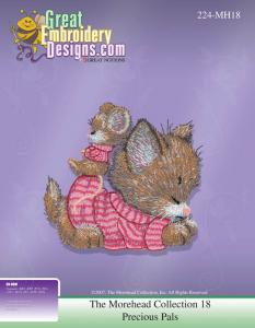Great Notions  MH18 Morehead Licensed Collection 18 Precious Pals Embroidery Designs Multi-Formatted CD