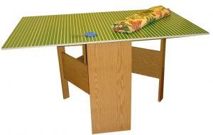 "Arrow 98602, Pixie, Grass Green, Fabric Cutting Table, RTA, Honey Oak Base, Cutting Mat, Opens 59-1/4""W x 36""D x 32-5/16""H, Closes to 14-5/16"" wide x 36"""