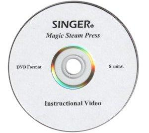 Singer MSP7 Magic Steam Press DVD Video 8 Minute Pressing Applications