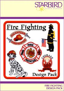Starbird Embroidery Designs Fire Fighting Design CD Pack
