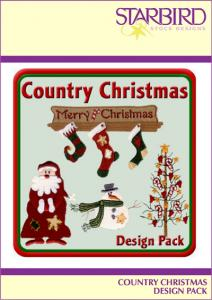 Starbird Embroidery Designs Country Christmas Design Pack