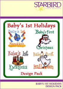 Starbird Embroidery Designs Baby's 1st Holidays Design Pack