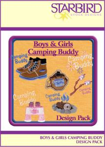 Starbird Embroidery Designs Boys & Girls Camping Buddy Design Pack