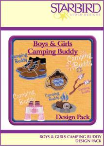 Starbird Embroidery Designs Boys & Girls Camping Buddy Design Pack