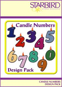 Starbird Embroidery Designs Candle Numbers Design Pack