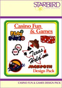 Starbird Embroidery Designs Casino Fun & Games Design Pack