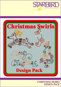 Starbird Embroidery Designs Christmas Swirls Design Pack