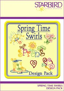 Starbird Embroidery Designs Spring Time Swirls Design Pack