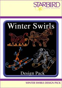 Starbird Embroidery Designs Winter Swirls Design Pack