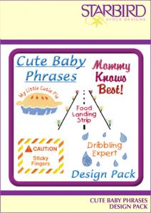 Starbird Embroidery Designs Cute Baby Phrases #1 Design Pack