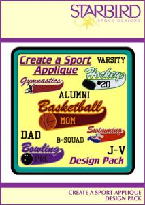 Starbird Embroidery Designs Create A Sport Design Pack