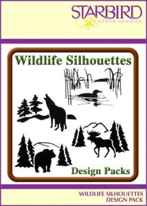 Starbird Embroidery Designs Wildlife Silhouettes Design Pack